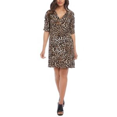 カレンケーン レディース ワンピース トップス Karen Kane Leopard Print Shift Dress Leopard