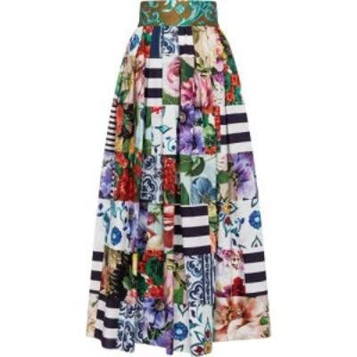 ドルチェandガッバーナ Dolce and Gabbana レディース ロング・マキシ丈スカート スカート printed cotton-blend maxi skirt Variante Ab