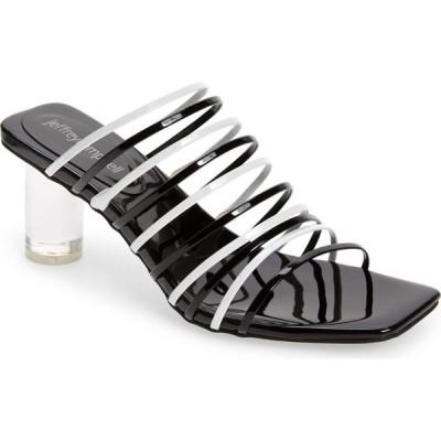 ジェフリー キャンベル JEFFREY CAMPBELL レディース サンダル・ミュール シューズ・靴 Bilateral Strappy Sandal Black White Patent Combo