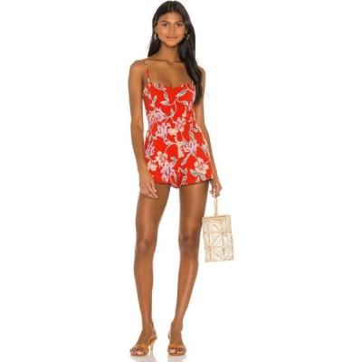 プライバシー プリーズ Privacy Please レディース オールインワン ワンピース・ドレス Bayside Romper Red Jessa Floral