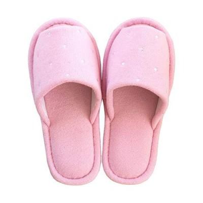 オカ スリッパ ピンク 足のサイズ 約25cmまで ピュアコロン ミュー (水玉 ベーシック)