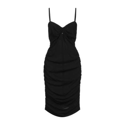 SUOLI 7分丈ワンピース・ドレス ブラック 44 レーヨン 94% / ポリウレタン 6% 7分丈ワンピース・ドレス