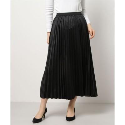スカート サテンプリーツスカート