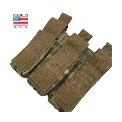DBT社製 9mm ピストル トリプル マガジンポーチ FBI アメリカ州警察 米軍でも採用 Diamondback Tactical (マルチカム)