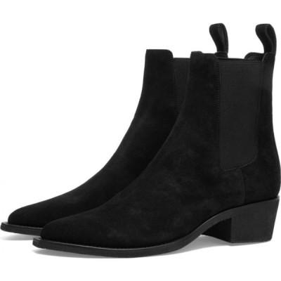 アミリ AMIRI メンズ ブーツ チェルシーブーツ シューズ・靴 chelsea crepe sole boot Black
