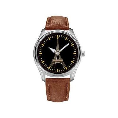 メンズウォッチ トップブランド ラグジュアリー メンズ ブラウンレザー 腕時計 ファッション ビジネス デザイナー クリスマスプレゼント メンズ 腕時