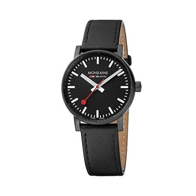 腕時計 モンディーン 北欧 MSE.35121.LB Mondaine SBB Stainless Steel Swiss-Quartz Watch with Leather