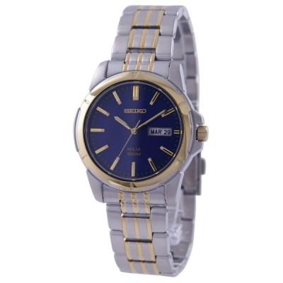 セイコー SEIKO 腕時計 ソーラー 100M防水 ネイビー文字盤 SNE502P1 メンズ [逆輸入品]