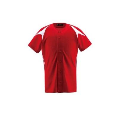 デサント(DESCENTE) ジュニア フルオープンシャツ JDB-1013 RDSW レッド/Sホワイト 160
