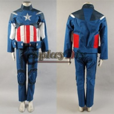 高品質 高級コスプレ衣装 キャプテン アメリカ アベンジャーズ 風 The Avengers New Jacket Pants Set costume for Captain America