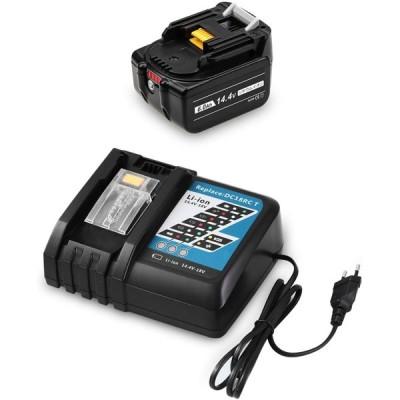 MuniKind 互換 マキタ 14.4V バッテリー BL1460B DC18RC(14.4V-18Vバッテリーに対応充電器)7.0Ah 電動工具用