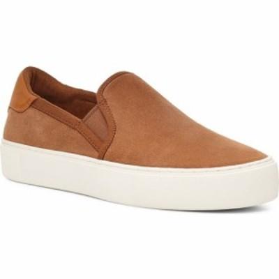 アグ UGG レディース スリッポン・フラット スニーカー シューズ・靴 Cahlvan Slip-On Sneaker Chestnut Suede