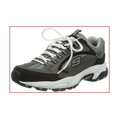 Skechers Sport Men's Stamina Nuovo Cutback Lace-Up Sneaker,Charcoal/Black,10.5 2E US【並行輸入品】