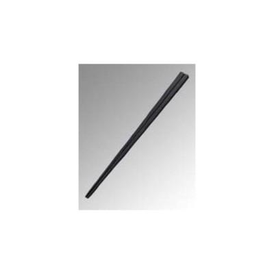 Reプラ四角箸 23cm 黒(PPS製)