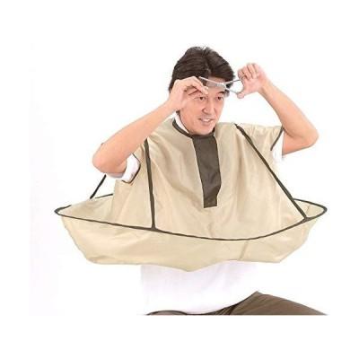 ヘアエプロン 散髪ケープ 散髪マント 刈布 ケープ 散髪道具 毛染め用 ヘアカット 飛び散り防止 防水 静電防止 自宅&理容室用 便利 折り畳み可能