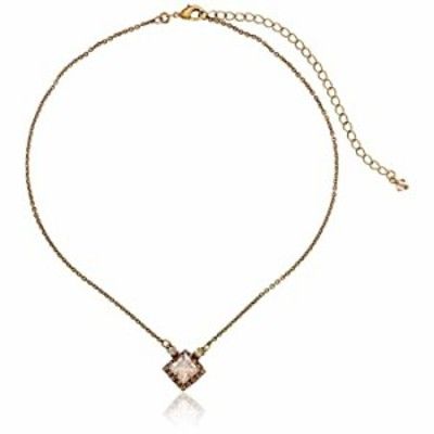 Sorrelli Perfectly Pointed Pendant Necklace, Antique Gold-Tone Finish, Neutral Territory