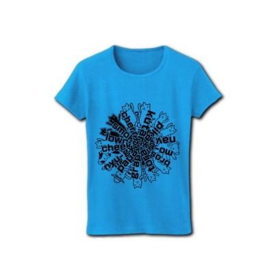 クター[F] リブクルーネックTシャツ (ターコイズ)