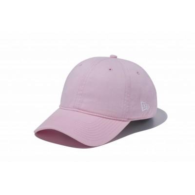 NEW ERA帽子 キャップ 9TWENTY Cloth Strap ウォッシュドコットン ベーシック ピンク 11434012 日よけピンク