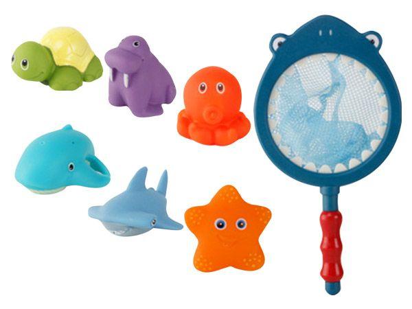 溫感變色兒童撈魚洗澡玩具(6隻動物)1組入【DS001843】顏色隨機出貨