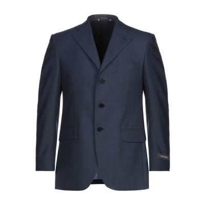 SANREMO テーラードジャケット ブルー 46 スーパー100 ウール 100% テーラードジャケット