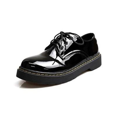 [NOFALL] 21389 L 靴 シューズ レディース マニッシュ レースアップ 可愛い おしゃれ 人気 ラウンドトゥ エナメル 合皮