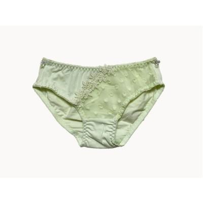 緑 レース 刺繍 花柄 パンツ  キュート インナー かわいい