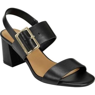 エアロソールズ Aerosoles レディース サンダル・ミュール シューズ・靴 Essex Heeled Slingback Sandal Black Leather