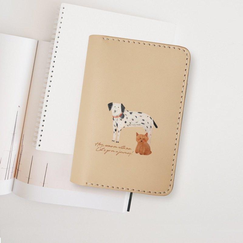 Lovely Dog 汪星人真皮 護照夾 卡套 旅行夾 證件夾