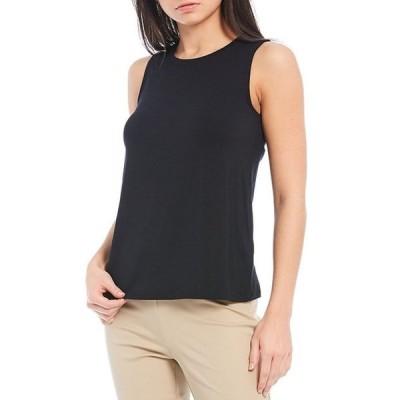 コート&ロー レディース Tシャツ トップス Crew Neck Cotton Modal Jersey Knit Sleeveless Tank