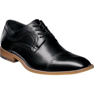ステイシーアダムス メンズ ドレスシューズ シューズ Dickinson Cap Toe Oxford 25066 Black Antiqued Leather