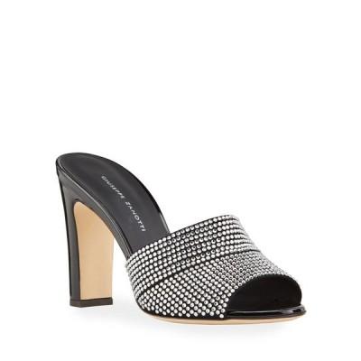 ジュゼッペザノッティ レディース サンダル シューズ Shimmery Crystal Slide Sandals