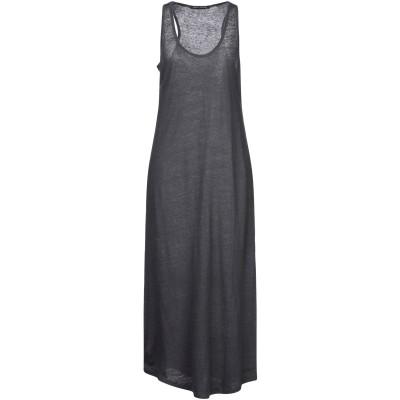 NEVER ENOUGH 7分丈ワンピース・ドレス スチールグレー M リネン 100% 7分丈ワンピース・ドレス