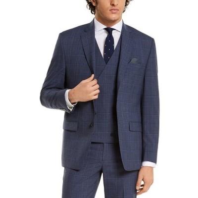 ラルフローレン ジャケット&ブルゾン アウター メンズ Men's Classic-Fit UltraFlex Navy Windowpane Suit Separate Jacket Navy Windowpane