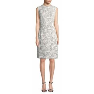 オスカーデラレンタ レディース ワンピース Rose Print Sheath Dress