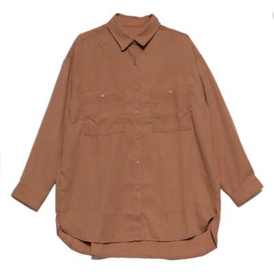 スタイルブロック STYLEBLOCK ポケットBIGシャツ (ブラウン)