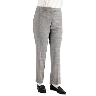 アンクライン カジュアルパンツ ボトムス レディース Plus Size Plaid Bowie-Tab Pants Anne Black/anne White