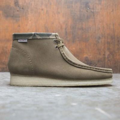 クラークス Clarks メンズ ブーツ シューズ・靴 x carhartt wip men wallabee boot green/suede