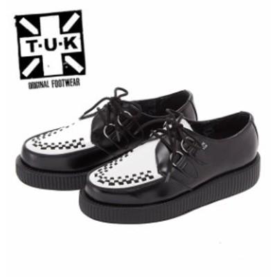 TUK ラバーソール 通販 ブランド パンクロック ロカビリー ロックンロール メンズ 厚底 おしゃれ 靴 くつ クツ ラバソール 黒 ブラック