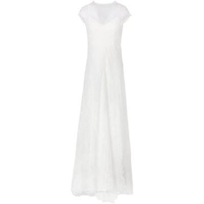 IVY & OAK ロングワンピース&ドレス ホワイト 34 コットン 65% / ナイロン 25% / ポリエステル 10% ロングワンピース&ド