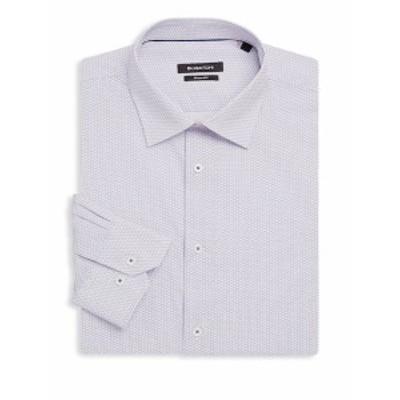 ブガッチ Men Clothing Shaped-Fit Printed Cotton Dress Shirt