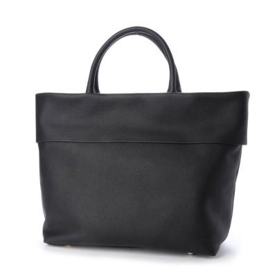 ヴィータフェリーチェ VitaFelice トートバッグ 本革トートバッグ 通勤バッグ レディースバッグ お仕事バッグ a4 (BLACK)