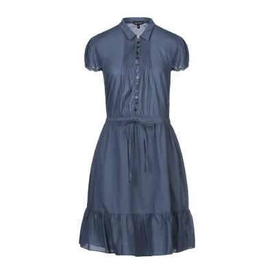 エンポリオ アルマーニ EMPORIO ARMANI ミニワンピース&ドレス ブルーグレー 46 コットン 100% ミニワンピース&ドレス