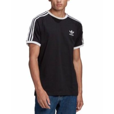 アディダス メンズ Tシャツ トップス adidas Men's Originals 3-Stripes Cali T-Shirt Black