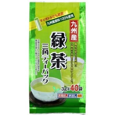 寿老園 九州産 緑茶 三角ティーパック (3g*40袋入)