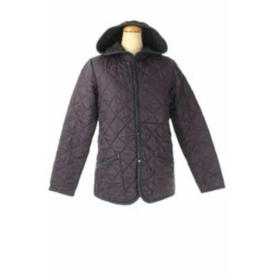 【中古】ラベンハム LAVENHAM キルティングジャケット 中綿 36 紫 /HK ■OS レディース