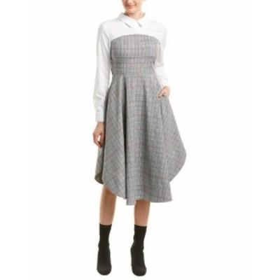 Plaid  ファッション ドレス English Factory Plaid A-Line Dress S Black