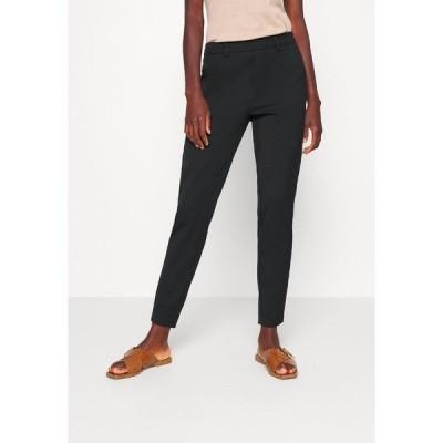 オブジェクト トール カジュアルパンツ レディース ボトムス OBJLISA SLIM PANT - Trousers - black