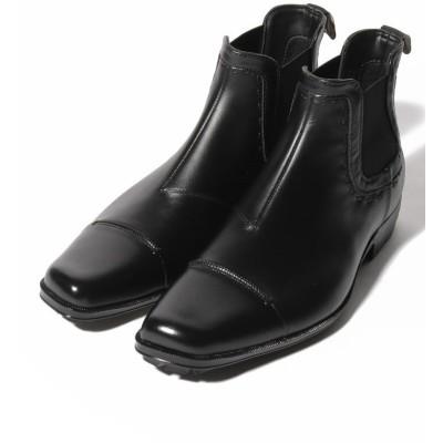 【クラウン製靴】 レインシューズ(サイドゴア) メンズ ブラック M CROWN SHOE CO.、LTD.