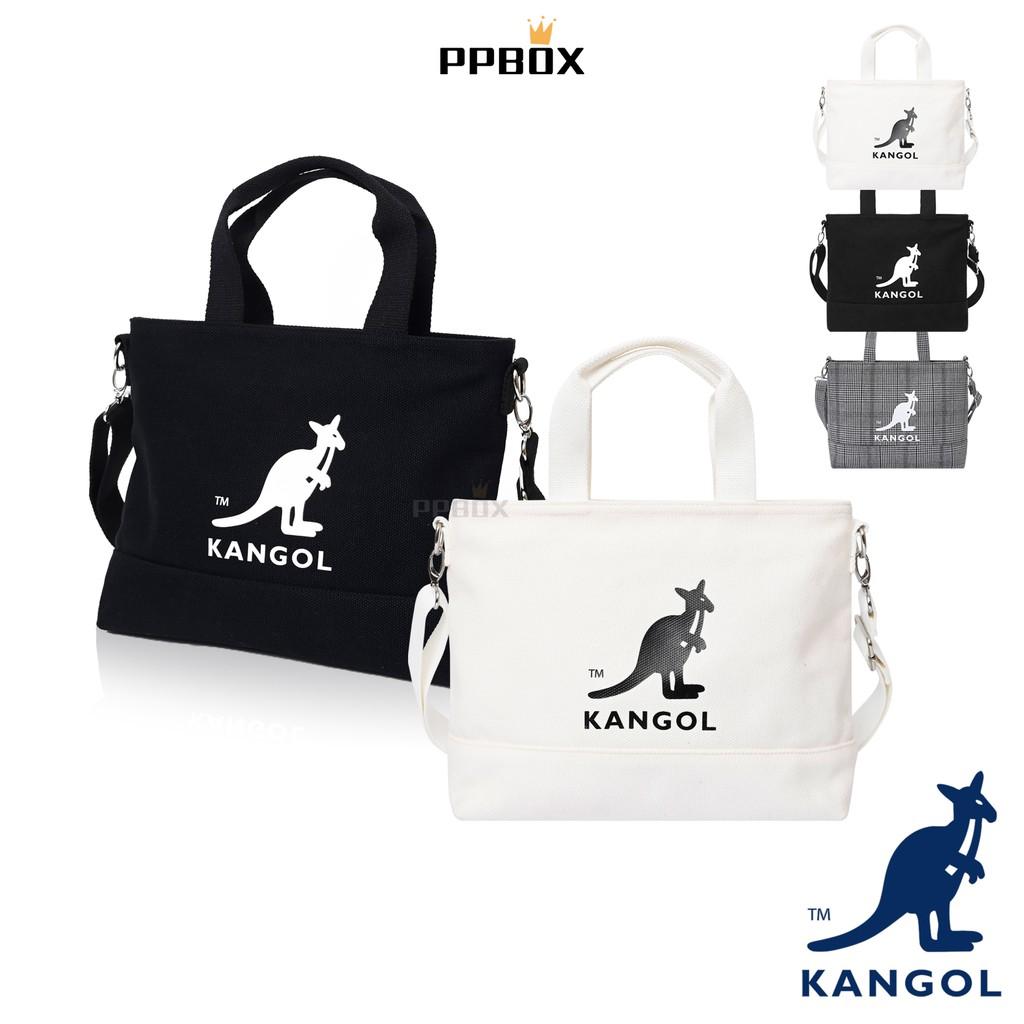KANGOL 袋鼠 經典LOGO 兩用 帆布托特包 托特包 帆布包 側背包 兩用包 【61251709】 時尚