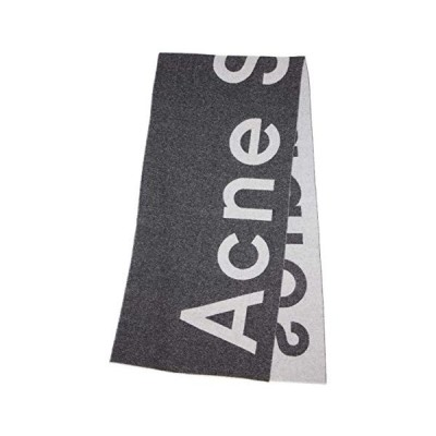 ACNE STUDIOS Toronty Logo Scarf (アクネ ストゥディオズ) マフラー 大判スカーフ ロングマフラー ユニセックス グレー